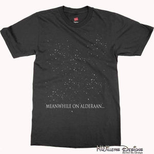 Meanwhile On Alderaan Mens Hanes T-Shirt - S