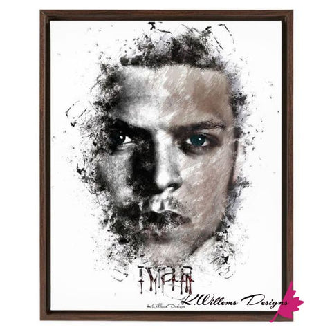 Alex Hogh Andersen Premium Ink Smudge Style Art Print - Framed Canvas Art Print / 16x20 inch