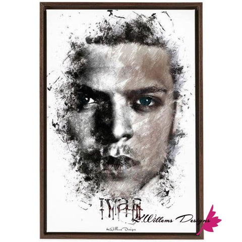 Alex Hogh Andersen Premium Ink Smudge Style Art Print - Framed Canvas Art Print / 24x36 inch