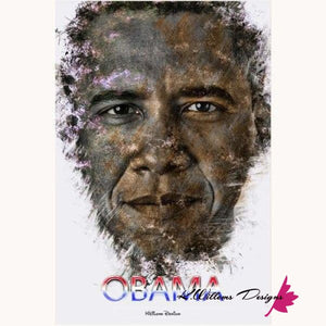 Barack Obama Ink Smudge Style Art Print - Acrylic Art Print / 24x36 inch