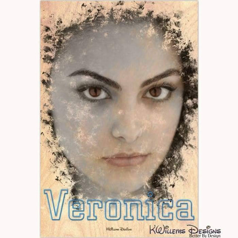 Camila Mendes as Veronica Ink Smudge Style Art Print