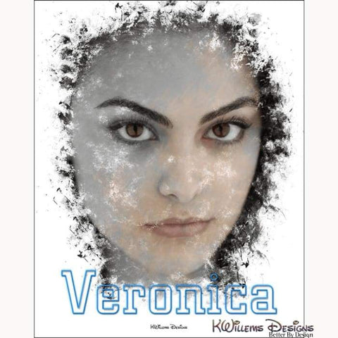 Image of Camila Mendes as Veronica Ink Smudge Style Art Print