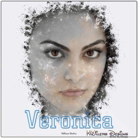 Image of Camila Mendes as Veronica Ink Smudge Style Art Print - Metal Art Print / 24x24 inch