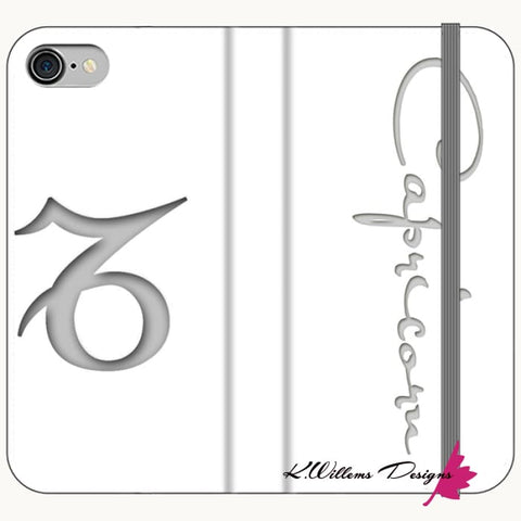 Image of Capricorn Phone Case - iPhone 7 / Premium Folio Wallet Satin Case