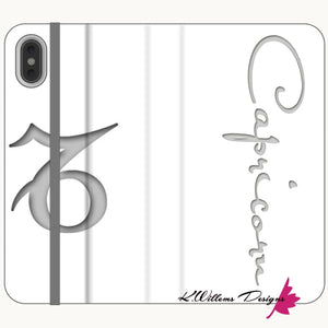 Capricorn Phone Case - iPhone XS Max / Premium Folio Wallet Satin Case