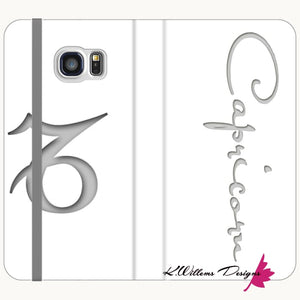 Capricorn Phone Case - Samsung Galaxy S7 / Premium Folio Wallet Satin Case