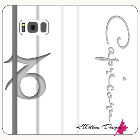 Image of Capricorn Phone Case - Samsung Galaxy S8 Plus / Premium Folio Wallet Satin Case