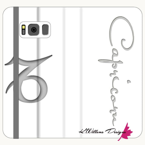 Image of Capricorn Phone Case - Samsung Galaxy S8 / Premium Folio Wallet Satin Case