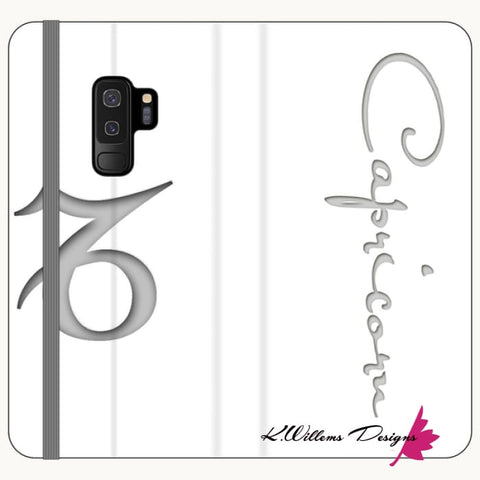 Image of Capricorn Phone Case - Samsung Galaxy S9 Plus / Premium Folio Wallet Satin Case