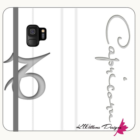 Image of Capricorn Phone Case - Samsung Galaxy S9 / Premium Folio Wallet Satin Case