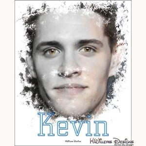 Casey Cott as Kevin Ink Smudge Style Art Print