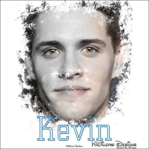 Image of Casey Cott as Kevin Ink Smudge Style Art Print
