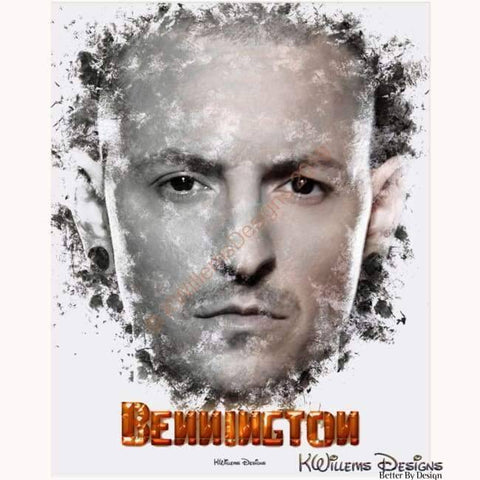 Image of Chester Bennington Ink Smudge Style Art Print - Acrylic Art Print / 16x20 inch