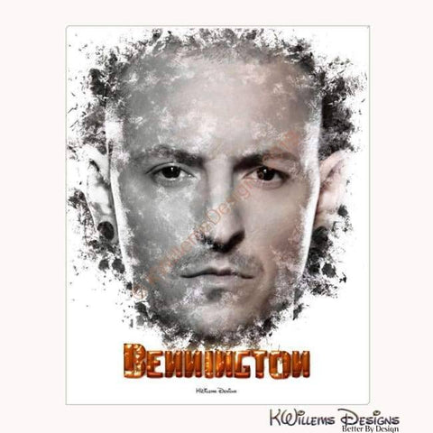 Image of Chester Bennington Ink Smudge Style Art Print