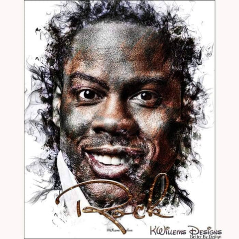 Image of Chris Rock Ink Smudge Style Art Print