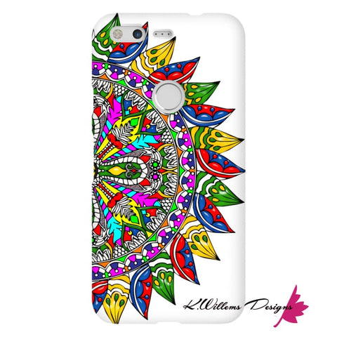 Image of Circle Of Life Mandala Phone Cases - Google Pixel / Premium Glossy Snap Case