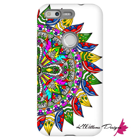 Image of Circle Of Life Mandala Phone Cases - Google Pixel / Premium Glossy Tough Case