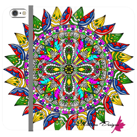 Image of Circle Of Life Mandala Phone Cases - iPhone 6s / Premium Folio Wallet Satin Case