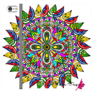 Circle Of Life Mandala Phone Cases - iPhone 6s / Premium Folio Wallet Satin Case