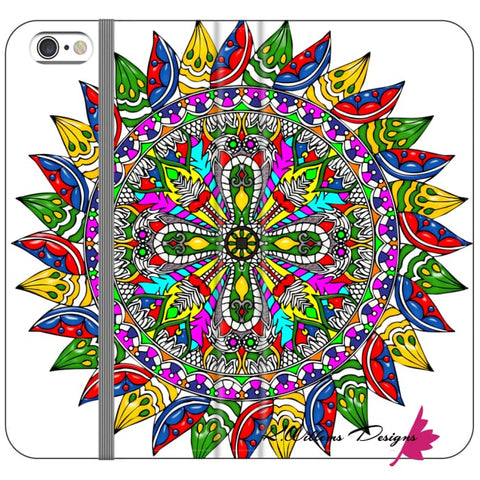 Image of Circle Of Life Mandala Phone Cases - iPhone 6s Plus / Premium Folio Wallet Satin Case