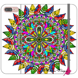 Circle Of Life Mandala Phone Cases - iPhone 8 Plus / Premium Folio Wallet Satin Case