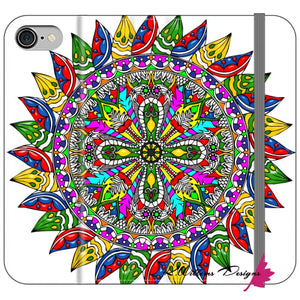 Circle Of Life Mandala Phone Cases - iPhone 8 / Premium Folio Wallet Satin Case