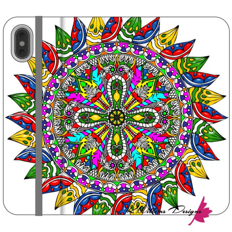 Image of Circle Of Life Mandala Phone Cases - iPhone XS Max / Premium Folio Wallet Satin Case