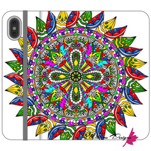 Circle Of Life Mandala Phone Cases - iPhone XS Max / Premium Folio Wallet Satin Case