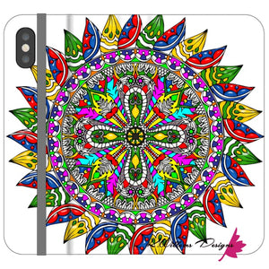 Circle Of Life Mandala Phone Cases - iPhone XS / Premium Folio Wallet Satin Case