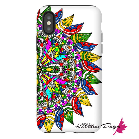 Image of Circle Of Life Mandala Phone Cases - iPhone XS / Premium Glossy Tough Case