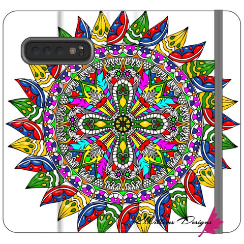 Image of Circle Of Life Mandala Phone Cases - Samsung Galaxy S10 / Premium Folio Wallet Satin Case