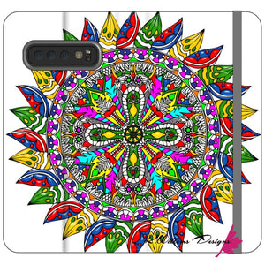 Circle Of Life Mandala Phone Cases - Samsung Galaxy S10 / Premium Folio Wallet Satin Case