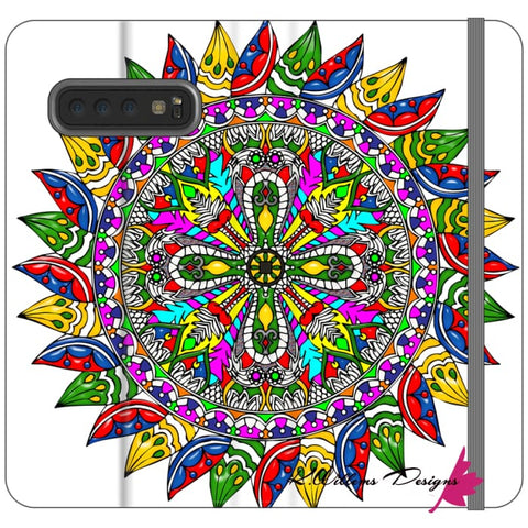 Image of Circle Of Life Mandala Phone Cases - Samsung Galaxy S10 Plus / Premium Folio Wallet Satin Case