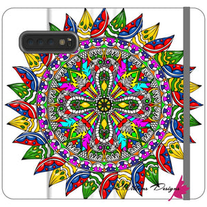 Circle Of Life Mandala Phone Cases - Samsung Galaxy S10 Plus / Premium Folio Wallet Satin Case