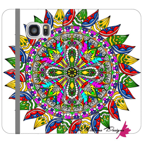 Image of Circle Of Life Mandala Phone Cases - Samsung Galaxy S6 Edge / Premium Folio Wallet Satin Case