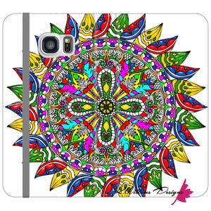 Circle Of Life Mandala Phone Cases - Samsung Galaxy S6 Edge / Premium Folio Wallet Satin Case
