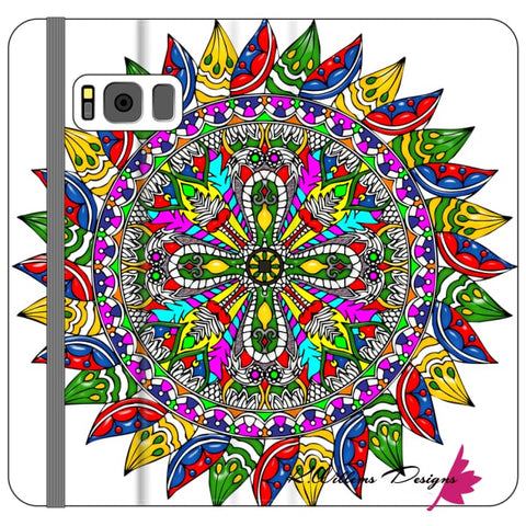 Image of Circle Of Life Mandala Phone Cases - Samsung Galaxy S8 Plus / Premium Folio Wallet Satin Case