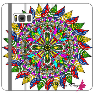 Circle Of Life Mandala Phone Cases - Samsung Galaxy S8 Plus / Premium Folio Wallet Satin Case