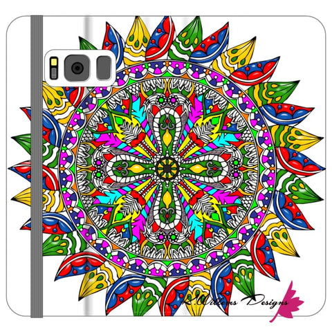 Image of Circle Of Life Mandala Phone Cases - Samsung Galaxy S8 / Premium Folio Wallet Satin Case
