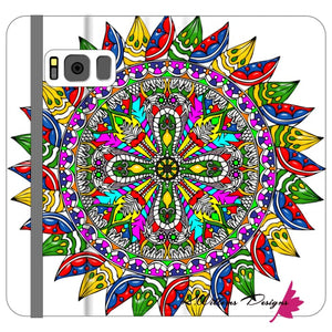 Circle Of Life Mandala Phone Cases - Samsung Galaxy S8 / Premium Folio Wallet Satin Case