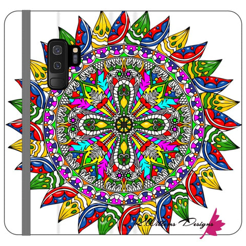 Image of Circle Of Life Mandala Phone Cases - Samsung Galaxy S9 Plus / Premium Folio Wallet Satin Case