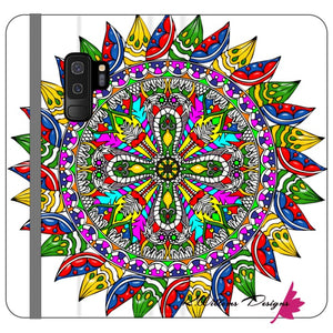 Circle Of Life Mandala Phone Cases - Samsung Galaxy S9 Plus / Premium Folio Wallet Satin Case