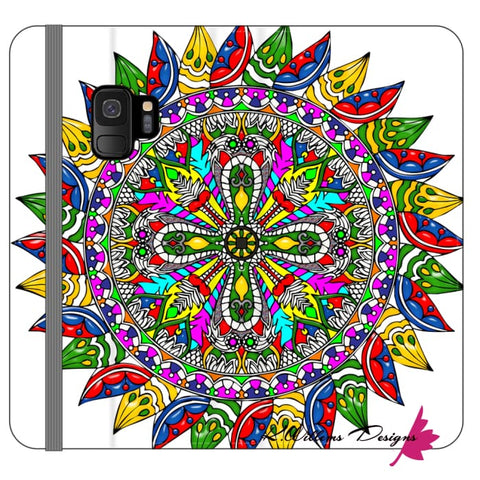 Image of Circle Of Life Mandala Phone Cases - Samsung Galaxy S9 / Premium Folio Wallet Satin Case