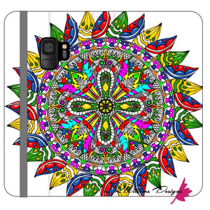 Circle Of Life Mandala Phone Cases - Samsung Galaxy S9 / Premium Folio Wallet Satin Case