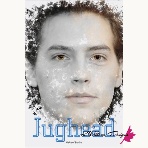 Image of Cole Sprouse as Jughead Ink Smudge Style Art Print - Acrylic Art Print / 24x36 inch