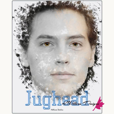 Image of Cole Sprouse as Jughead Ink Smudge Style Art Print - Metal Art Print / 16x20 inch
