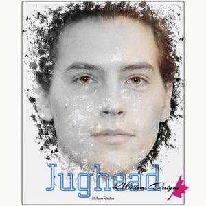 Cole Sprouse as Jughead Ink Smudge Style Art Print - Metal Art Print / 16x20 inch