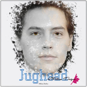 Cole Sprouse as Jughead Ink Smudge Style Art Print - Metal Art Print / 24x24 inch
