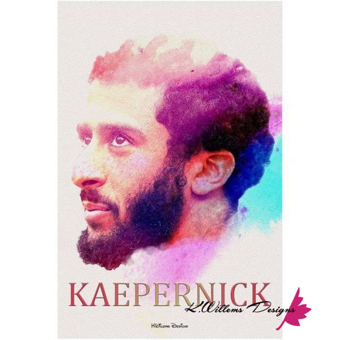 Image of Colin Kaepernick Water Colour Style Art Print - Acrylic Art Print / 24x36 inch