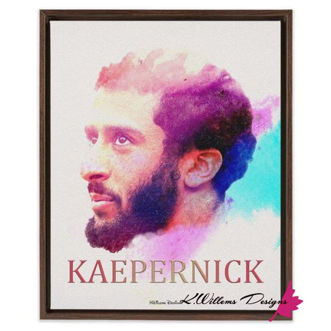 Image of Colin Kaepernick Water Colour Style Art Print - Framed Canvas Art Print / 16x20 inch